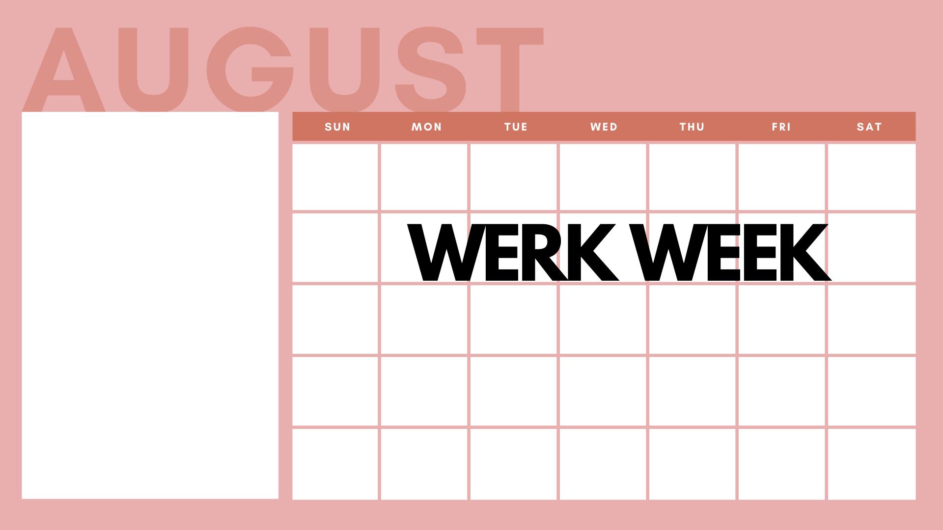 Violet and Pink General Calendar